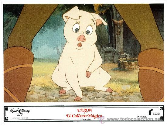 Cine: Juego de 8 fotocromos de la pelicula Taron y el caldero mágico Walt Disney - Foto 4 - 34673369