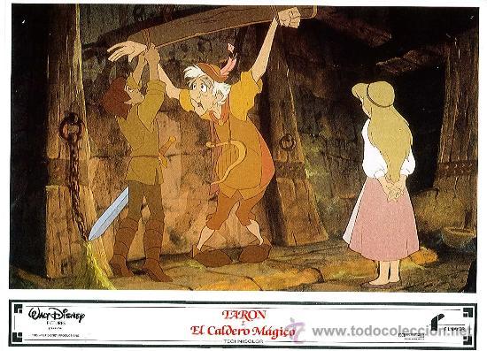 Cine: Juego de 8 fotocromos de la pelicula Taron y el caldero mágico Walt Disney - Foto 5 - 34673369