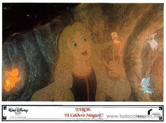 Cine: Juego de 8 fotocromos de la pelicula Taron y el caldero mágico Walt Disney - Foto 6 - 34673369