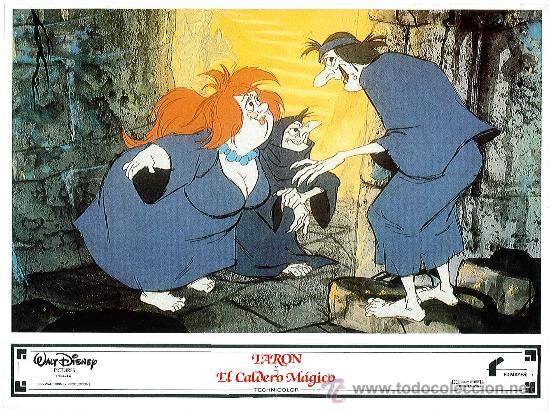 Cine: Juego de 8 fotocromos de la pelicula Taron y el caldero mágico Walt Disney - Foto 7 - 34673369