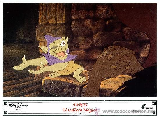 Cine: Juego de 8 fotocromos de la pelicula Taron y el caldero mágico Walt Disney - Foto 8 - 34673369