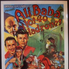 Cinema: POSTAL SERIE SPANISH POSTERS 15X10,5 CM Nº 3, ALI BABA Y LOS 40 LADRONES,MARIA MONTEZ. Lote 35056373