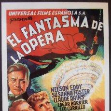 Cinéma: POSTAL SERIE SPANISH POSTERS 15X10,5 CM Nº 28, EL FANTASMA DE LA OPERA,NELSON EDDY,SUSANNA FOSTER. Lote 35059244