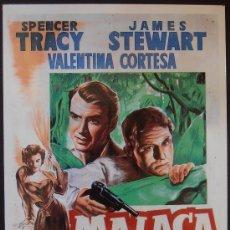 Cinema: POSTAL SERIE SPANISH POSTERS 15X10,5 CM Nº 42, MALACA,SPENCER TRACY,JAMES STEWART . Lote 35061136