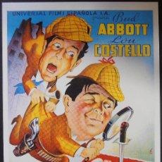 Cinema: POSTAL SERIE SPANISH POSTERS 15X10,5 CM Nº 259, CRIMEN A MEDIANOCHE,ABBOTT Y COSTELLO. Lote 35216253