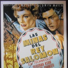 Cinema: POSTAL SERIE SPANISH POSTERS 15X10,5 CM Nº 270, LA MINAS DEL REY SALOMON,DEBORAH KERR. Lote 35224169