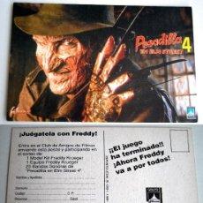 Cine: POSTAL PESADILLA EN ELM STREET 4 1989 FREDDY KRUEGER TENDO 2 DISEÑOS MAS DE PESADILLA 4 EN MIS LOTES. Lote 35401920