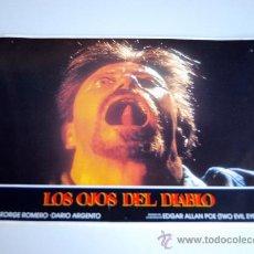 Cine: LOS OJOS DEL DIABLO 12 FOTOCROMOS GEORGE ROMERO DARIO ARGENTO EDGAR ALAN POE. Lote 35415384