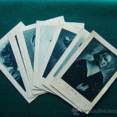 Cine: FOTOS DE ACTORES - SERIE B - COMPLETA - 18 TARJETAS CARTULINA - Nº 1 AL 18 - AÑOS 1920/1930. Lote 35433505