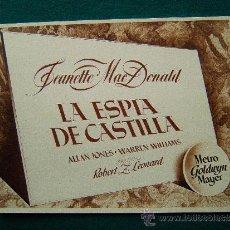 Cine: LA ESPIA DE CASTILLA - ROBERT Z. LEONARD - JEANETTE MACDONALD -ALLAN JONES -12 FOTOS-COMPLETA - 194?. Lote 35445724