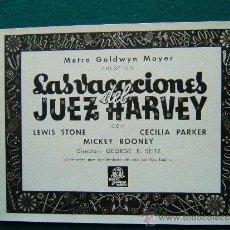 Cine: LAS VACIONES DEL JUEZ HARVEY - GEORGE B. SEITZ - MICKEY ROONEY - 13 FOTOS - COMPLETA - 1940 ?. Lote 35447202