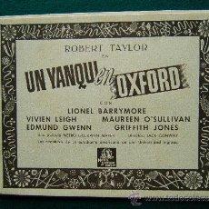 Cine: UN YANQUI EN OXFORD - JACK CONWAY - ROBERT TAYLOR - VIVIEN LEIGH - 13 FOTOS - COMPLETA - 194?. Lote 35448101