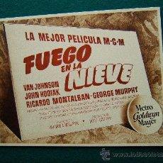 Cine: FUEGO EN LA NIEVE - WILLIAM A. WELLMAN - VAN JOHNSON - JOHN HODIAK - 12 FOTOS - COMPLETA - 1940 ?. Lote 35448283