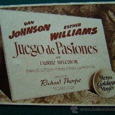 Cine: JUEGO DE PASIONES - RICHARD THORPE - VAN JOHNSON - ESTHER WILLIAMS - 12 FOTOS - COMPLETA - 1945 ?. Lote 35448477