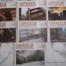 Cine: SIBERIADA 7 FOTOCROMOS ORIGINALES ESTRENO. Lote 35532979
