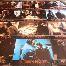 Cine: UN CRIMEN PERFECTO,MICHAEL DOUGLAS 12 FOTOCROMOS (7810). Lote 35622359
