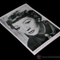 Cine: FOTO CLAUDETTE COLBERT 78, 17 X 12 CMS. ARTISTAS DE LA PANTALLA. OBSEQUIO REVISTA FLORITA. AÑOS 50.. Lote 35866645