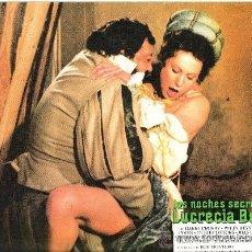 Cinema: LAS NOCHES SECRETAS DE LUCRECIA BORGIA FOTOCROMO ORIGINAL DEL ESTRENO DE LA PELICULA LOBBY CARDS . Lote 35983434