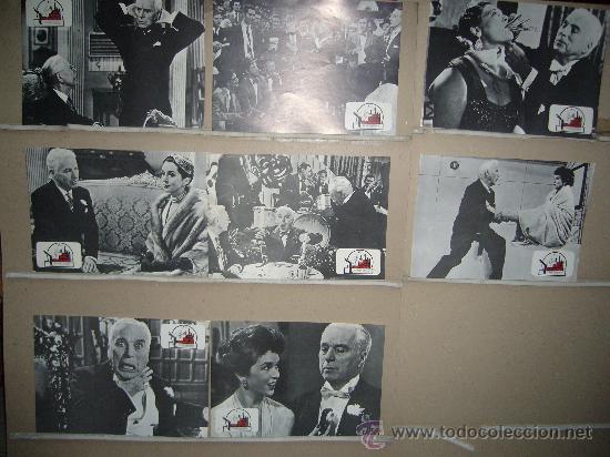 UN REY EN NUEVA YORK CHARLES CHAPLIN 8 FOTOCROMOS ORIGINALES B2 (Cine - Fotos, Fotocromos y Postales de Películas)