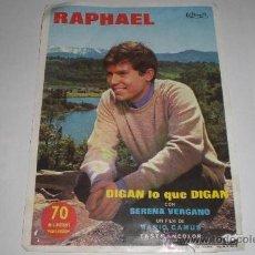 Cine: RAPHAEL DIGAN LO QUE DIGAN CINE PICAROL. Lote 223199445