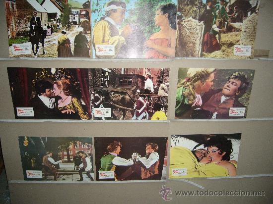 TOM JONES SUSANNAH YORK ALBERT FINNEY 9 FOTOCROMOS ORIGINALES B2(288) (Cine - Fotos, Fotocromos y Postales de Películas)