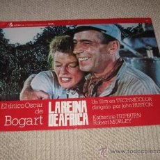 Cine: LA REINA DE ÁFRICA, BOGART, KATHERINE HEPBURN, ROBERT MORLEY, 4 FOTOCROMOS, LOBBY CARDS. Lote 36239816