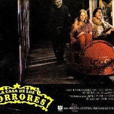Cine: LA CASA DE LOS HORRORES FOTOCROMO ORIGINAL DEL ESTRENO DE LA PELICULA LOBBY CARDS . Lote 36258725