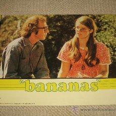 Cine: BANANAS, WOODY ALLEN, 8 FOTOCROMOS, LOBBY CARDS. Lote 36272107