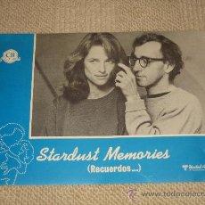 Cine: STARDUST MEMORIES, WOODY ALLEN, 12 FOTOCROMOS, LOBBY CARDS. Lote 36272129