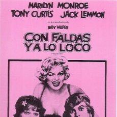 Cine: JUEGO DE 12 FOTOCROMOS PELICULA CON FALDAS Y A LO LOCO MARILYN MONROE TONY CURTIS JACK LEMMON. Lote 62162635