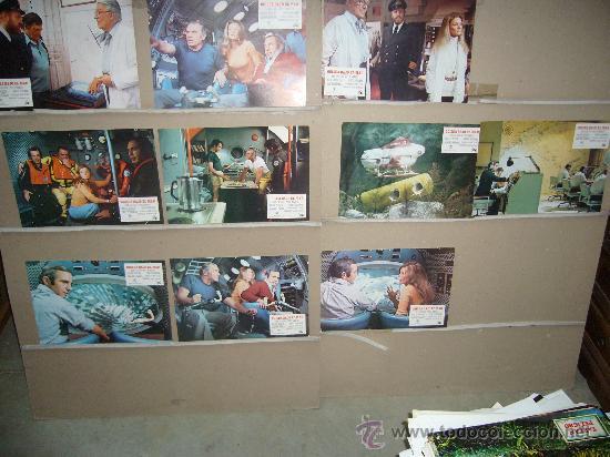 ODISEA BAJO EL MAR BEN GAZZARA YVETTE MIMIEUX BORGNINE SUBMARINISMO 10 FOTOCROMOS ORIGINALES B2(404) (Cine - Fotos, Fotocromos y Postales de Películas)