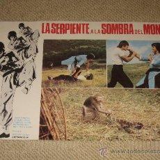 Cine: LA SERPIENTE A LA SOMBRA DEL MONO, JOHN CHANG, WILSON TONG, 11 FOTOCROMOS, LOBBY CARDS, KUNG FU. Lote 36324596