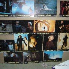 Cine: EL CABALLERO DEL DRAGON MIGUEL BOSE KLAUS KINSKI JUEGO COMPLETO DE 16 FOTOCROMOS B2(455). Lote 36391689