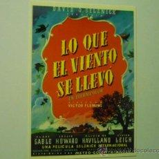 Cinéma: POSTAL LO QUE EL VIENTO SE LLEVO .- C.GABLE -O.HAVILLAND. Lote 36632922