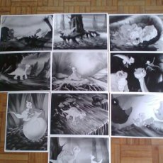 Cine: EN BUSCA DEL VALLE ENCANTADO. 10 FOTOS 18X24. DIBUJOS ANIMADOS. Lote 36653801