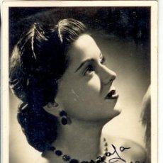 Cine: ELENA ESPEJO - POSTAL CON AUTÓGRAFO ORIGINAL. Lote 37281619