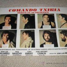 Cine: COMANDO TXIKIA MUERTE DE UN PRESIDENTE PAUL NASCHY JUAN LUIS GALIARDO ETA 14 FOTOCROMOS, LOBBY CARDS. Lote 269166423