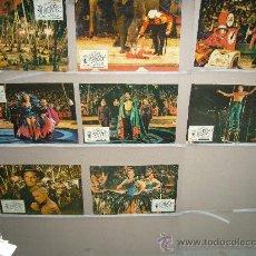 Cine: EL MAYOR ESPECTACULO DEL MUNDO CHARLTON HESTON DE MILLE STEWART 8 FOTOCROMOS ORIGINALES B2(372). Lote 37283827