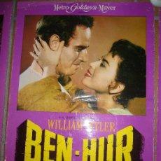 Cine: BEN-HUR CHARLTON HESTON WILLIAM WYLER FOTOCROMO ORIGINAL DEL ESTRENO 34X48 CM. Lote 37393162