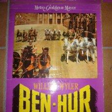 Cine: BEN-HUR CHARLTON HESTON WILLIAM WYLER FOTOCROMO ORIGINAL DEL ESTRENO 34X48 CM. Lote 37393250