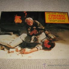 Cine: COMANDO LEOPARDO, LEWIS COLLINS, KLAUS KINSKI, 11 FOTOCROMOS, LOBBY CARDS, GUERRA. Lote 37489301
