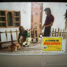 Cine: LA SEMANA DEL ASESINO ELOY DE LA IGLESIA VICENTE PARRA PONCELA FOTOCROMO ORIGINAL EN CARTON DURO. Lote 37530049