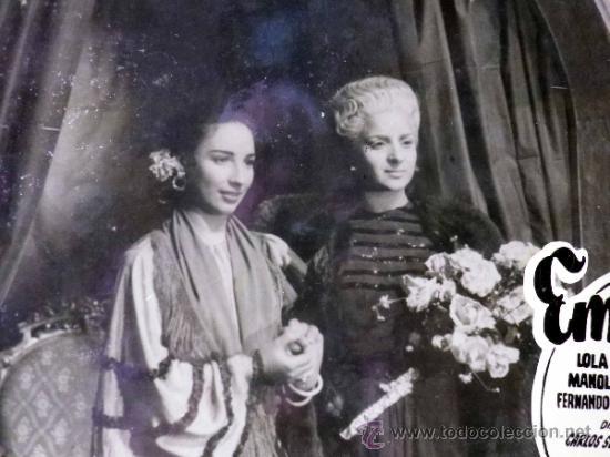 FOTOCROMO ORIGINAL. PELICULA EMBRUJO. LOLA FLORES. MANOLO CARACOL. ESPAÑA 1947 (Cine - Fotos, Fotocromos y Postales de Películas)