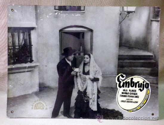 Cine: FOTOCROMO ORIGINAL. PELICULA EMBRUJO. LOLA FLORES. MANOLO CARACOL. ESPAÑA 1947 - Foto 2 - 158328113