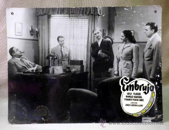 Cine: FOTOCROMO ORIGINAL. PELICULA EMBRUJO. LOLA FLORES. MANOLO CARACOL. ESPAÑA 1947 - Foto 2 - 37825519