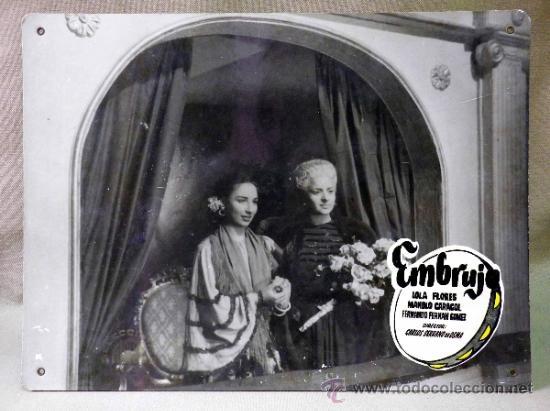 Cine: FOTOCROMO ORIGINAL. PELICULA EMBRUJO. LOLA FLORES. MANOLO CARACOL. ESPAÑA 1947 - Foto 2 - 37825515
