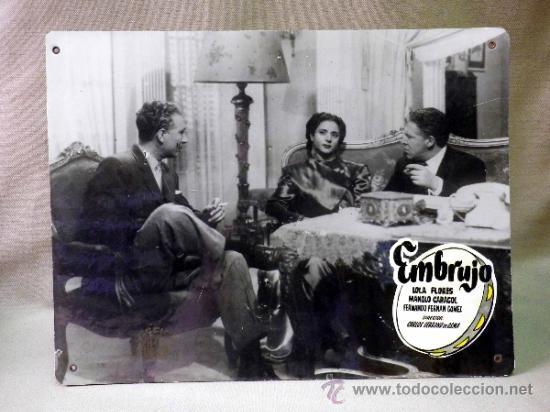 Cine: FOTOCROMO ORIGINAL. PELICULA EMBRUJO. LOLA FLORES. MANOLO CARACOL. ESPAÑA 1947 - Foto 2 - 37825443
