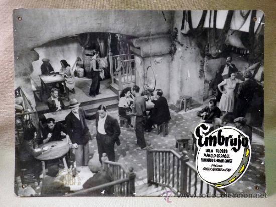 Cine: FOTOCROMO ORIGINAL. PELICULA EMBRUJO. LOLA FLORES. MANOLO CARACOL. ESPAÑA 1947 - Foto 2 - 37825441