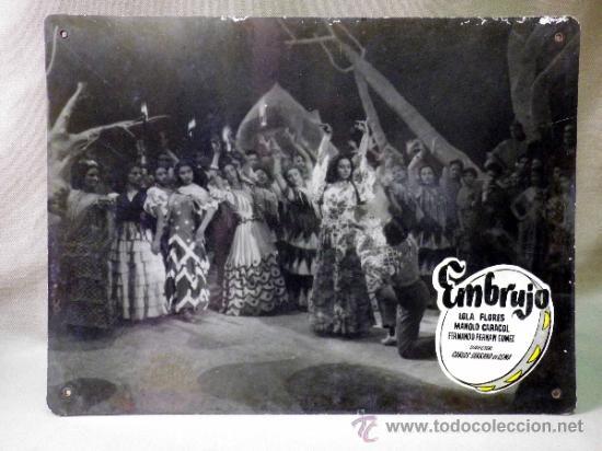 Cine: FOTOCROMO ORIGINAL. PELICULA EMBRUJO. LOLA FLORES. MANOLO CARACOL. ESPAÑA 1947 - Foto 2 - 158328324
