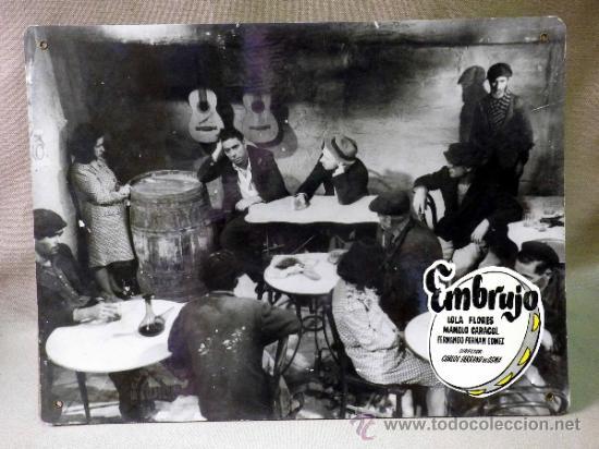 Cine: FOTOCROMO ORIGINAL. PELICULA EMBRUJO. LOLA FLORES. MANOLO CARACOL. ESPAÑA 1947 - Foto 2 - 37825436